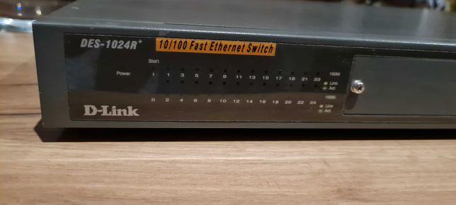 Switch 24 portowy d-link des-1024r 10/100 fast ethernet