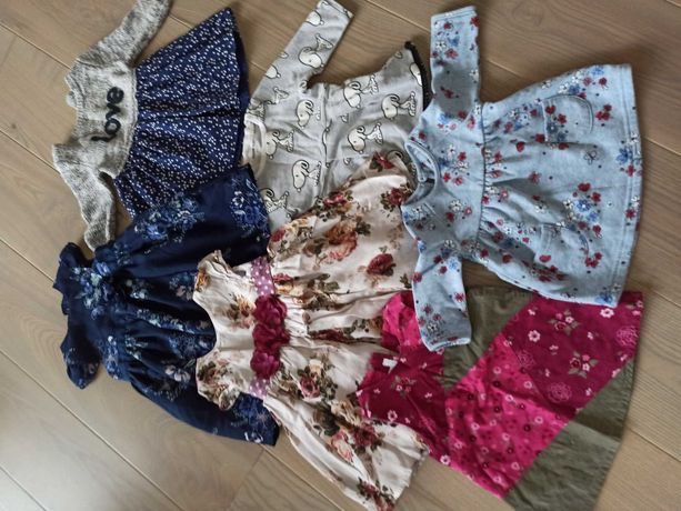 6 sukienek 0-6 miesięcy