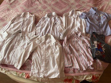 Рубашки на мальчика 5 6 7 8 лет