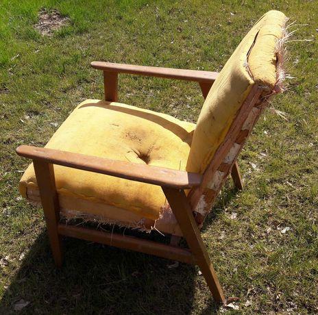 Fotele PRL Lisek, Śnieżnik typ: BW-14, B-7727, krzesło projektu Halasa