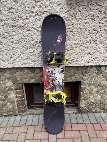 Deska snowbordowa Stuf Legend 158cm + wiazania Burton Freestyle