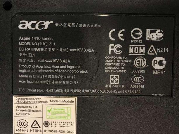 Vendo peças Acer 1410