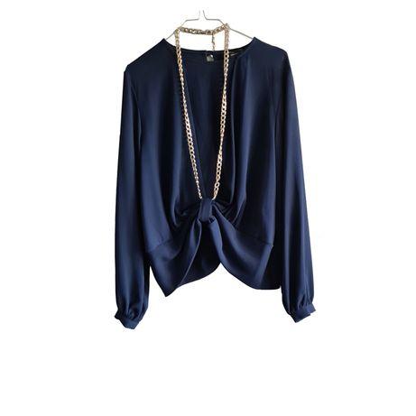 Blusa Azul Marinho Roberta Biagi
