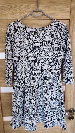 Sukienka biało czarna L Grey Wolf