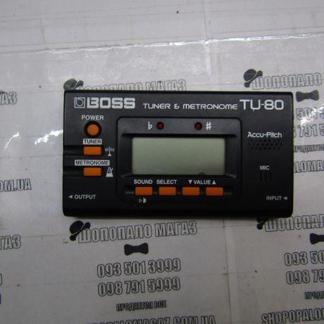 Гитарный тюнер-метроном Boss TU 80