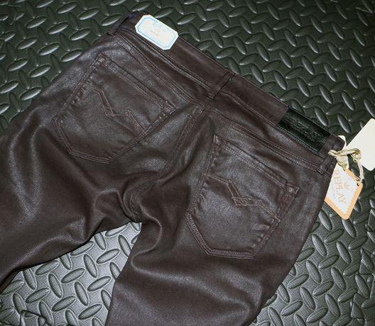 Nowe spodnie Replay LUZ Skinny 29/34 Burgundy Cena katalogowa 671 zł