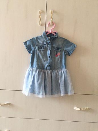 Нарядное джинсовое платье новое на 1 год
