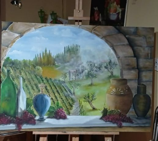 Vendo quadro pintado a óleo