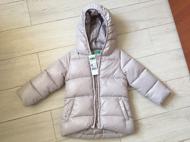 Зимняя куртка на девочку 1-2 года Новая Италия Benetton; пуховик