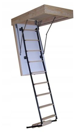 Schody strychowe ocieplane Termo metalowo-drewniane 70x100 gr. 53mm