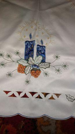 Новогодняя скатерть-салфетка