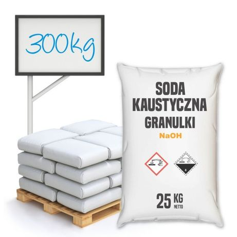Soda Kaustyczna granulki 300 kg.