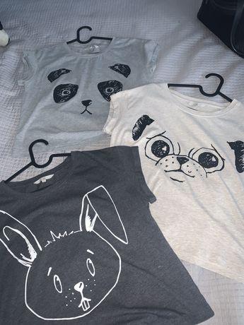 Koszulki ze zwierzatkami rozmiar L