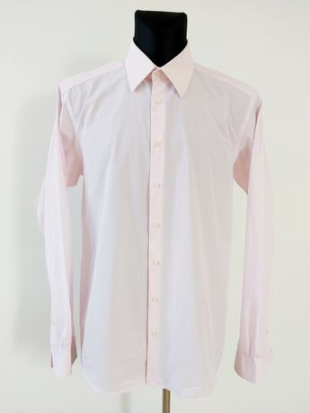 Męska koszula z długim rękawem Bytom r 44 różowa
