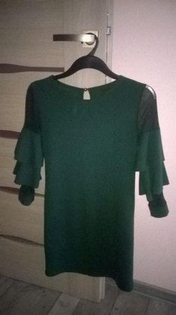 sukienka - tunika z falbanami na rękawach