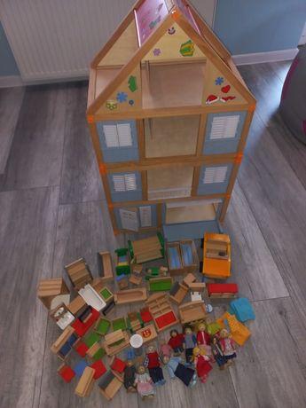 Duży  domek drewniany dla lalek