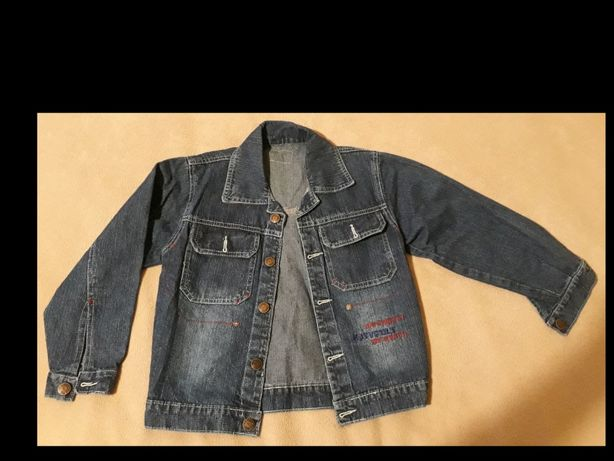 Kurtka jeansowa 110 116 wiosenna