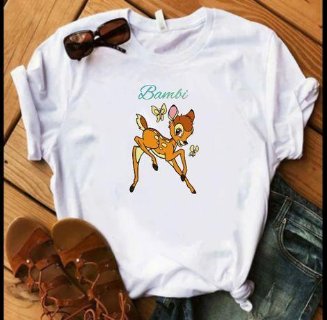 Koszulka t-shirt Bambi bajka S-XXL vintage Vogue