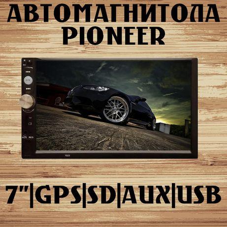 Pioneer магнитола 7012 сенсор, SD, AUX, Fm, 2 DIN, USB, Акция!