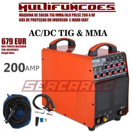Máquina de solda Multi-Funções.Oficina TIG/MMA