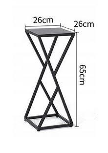 Kwietnik metalowy czarny typ loft
