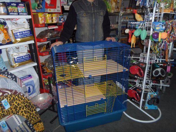 Клетка-вольер для крыс, дегу, шиншилл, хорька, птиц 80х45х107h 4-этажа