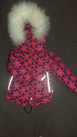 Парка(куртка, курточка) зимняя на девочку