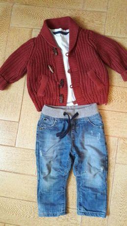 Теплые джинсы и кофта M&S 12-18 мес