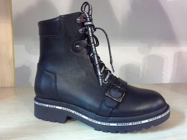 ботинки женские зимние низкий каблук натуральная кожа