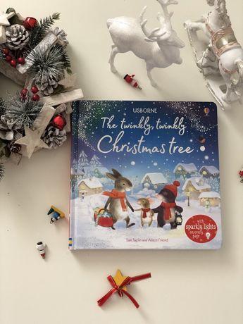 The Twinkly Twinkly Christmas Tree, Usborne чарующая книга согоньками