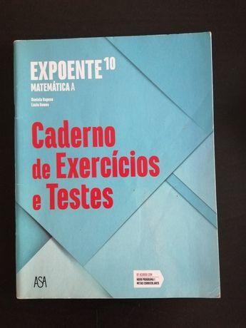 Caderno de Exercícios e Testes Expoente Matemática 10ano