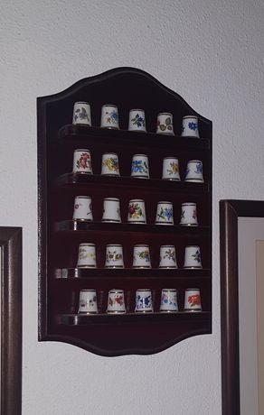 Coleção de 25 dedais de porcelana inglesa Royal Kent