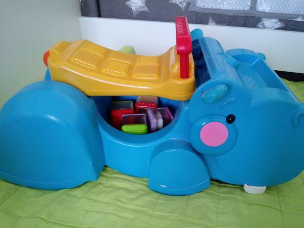 Pchacz fisher price hipopotam