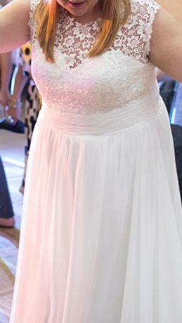 Suknia ślubna lejąca literka A rozmiar 48
