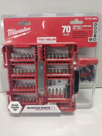 Milwaukee Shockwave набор ударных бит 70 шт DeWalt Makita Bosch AEG