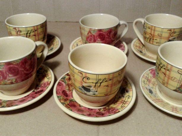 Чашки кофейные с блюдцами S&T 200 ml, 6 шт.