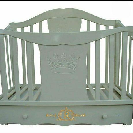 Кроватка, Ліжечко дитяче+(матрас-кокосовий,наматрасник)