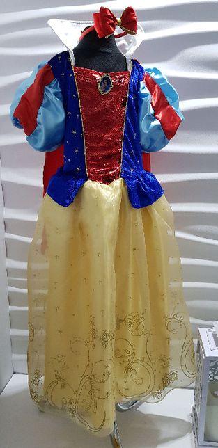 Disney suknia balowa królewna Śnieżka 8-9lat r.134 bal urodziny prezen