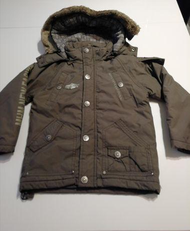 kurtka kolor khaki+ polar komplet rozm 98