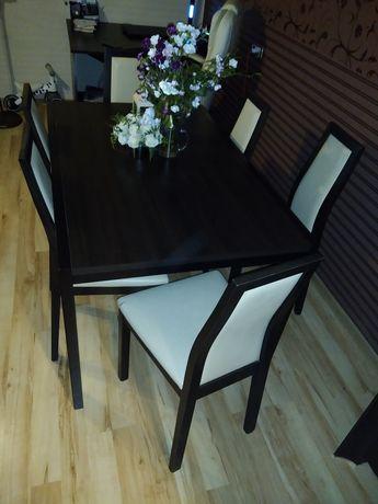 Stół z krzesłami rozkładany na 10 osób 6 krzeseł