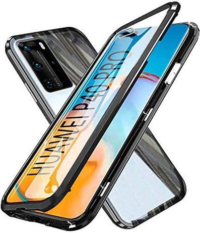 Etui 3w1 Magnetic GLASS 360° - Aluminium + Szkło do Huawei P40 Pro