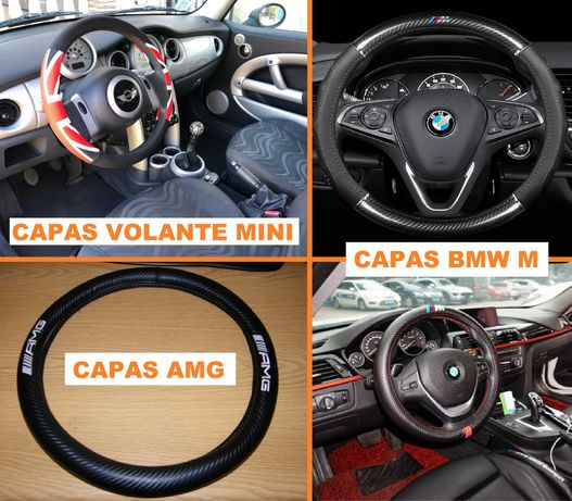 Capa cobertura volante Mini Cooper   Bmw M   Mercedes AMG