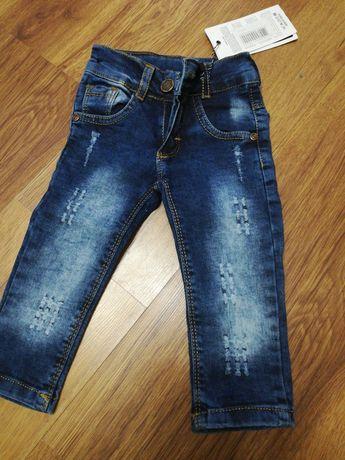 Nowe jeansy 74/80 wysyłka gratis