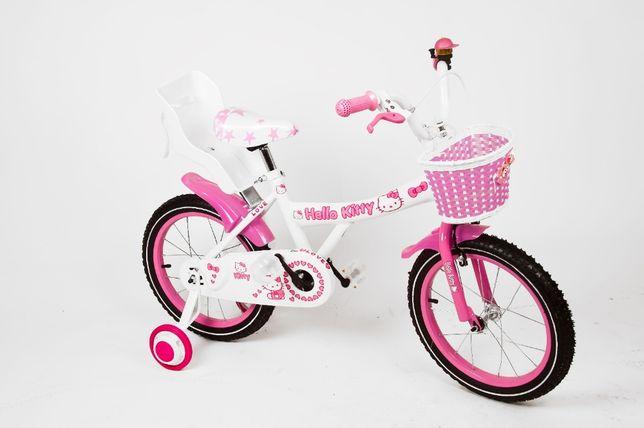 Rower 16 cali helo kitty z kotkiem koszyk fotelik prowadnik !!!