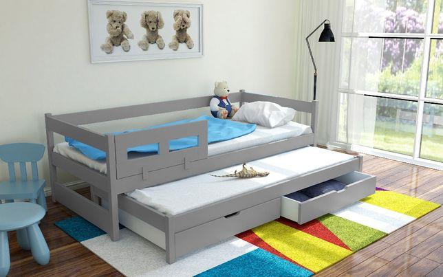 Podwójne parterowe łóżko Tommy,drewno sosnowe! Materace gratis