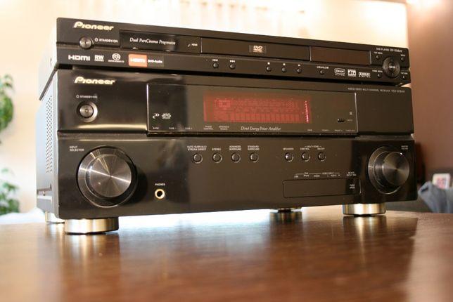 Amplituner PIONEER VSX-919 plus DVD DV696AV Kino domowe