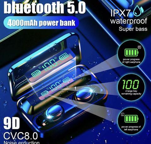 4000mAh Bluetooth 5.0 Fones De Ouvido Sem Fio Led tvvs estéreo fones d