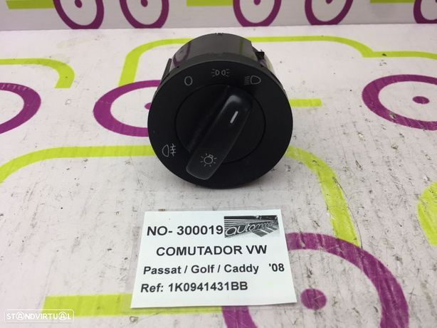 Comutador Luzes Volkswagen Passat / Golf / Caddy 2008 - Ref: 1K0941431BB - NO300019