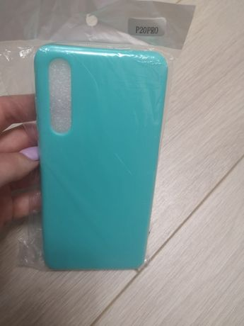 Чехол на Huawei P20PRO. Новый. Цвет Бирюза. Цена 79 грн.