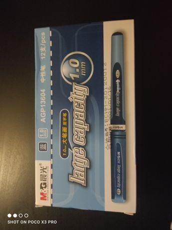 Canetas azul gel chinesa para negócio, escolar, 1.0 mm